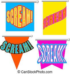 Set Cartoon scream!
