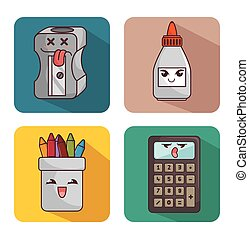 set character supplies school icon