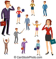set characters design. office team. vector. man women - set...