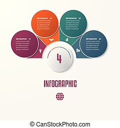 Elements Infographics Conceptual Cyclic Processes for 4...