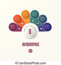 Elements Infographics Conceptual Cyclic Processes for 6...