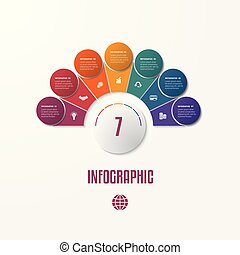 Elements Infographics Conceptual Cyclic Processes for 7...