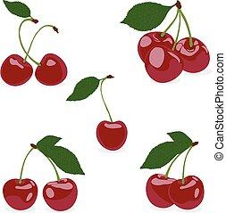 Set cherry, vector