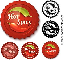 Set chili stamps