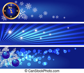 Set Christmas banners - Set Christmas backgrounds with...