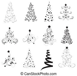 Set Christmas Trees