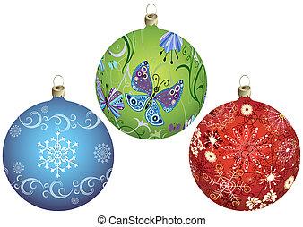 set, christmas`s, palle