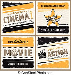 set, cinema, icona