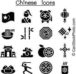 set, cinese, icona