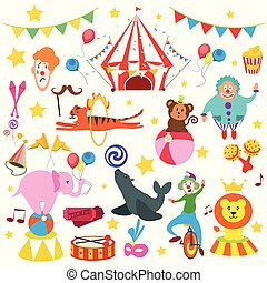 set, circo, animale