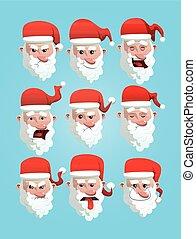 set., claus, weihnachten, santa, avatars