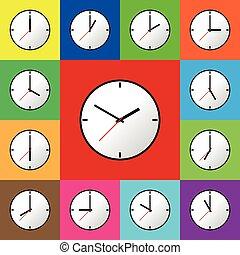 Set clock icon Vector illustration design EPS10