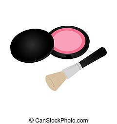 set collection blush with brush makeup