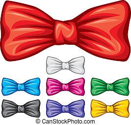 set), collezione, arco, (bow, cravatte, cravatta
