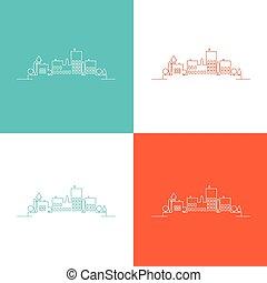 Set color contours of the urban landscape