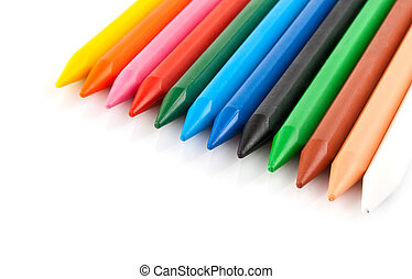 set color pencils isolated on white