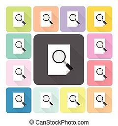 set, colorare, illustrazione, carta, vetro, vettore, ingrandendo, icona