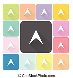 set, colorare, illustrazione, vettore, icona freccia