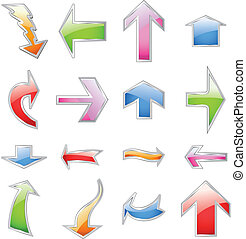 Set colorful arrows. Vector