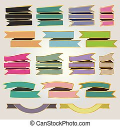 Set colorful ribbons and banners ve