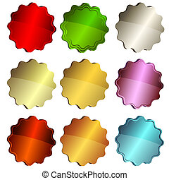 Set Colorful Star Labels