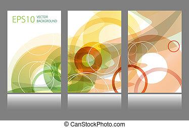 set, colorito, cerchio, astratto