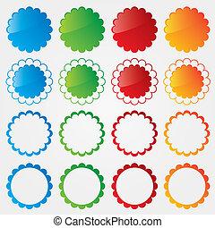 set, colorito, etichette, collection., prezzo, offerta, speciale