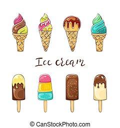 set, colorito, gelato