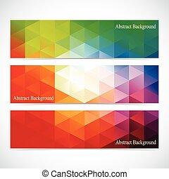 set, colorito, moderno, vettore, disegno, bandiere, tuo