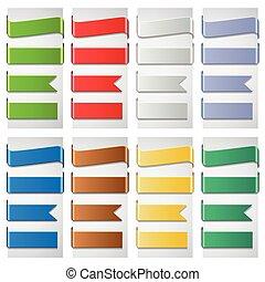 set, colorito, ribbons.