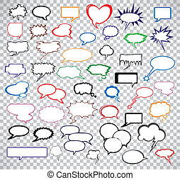 Set comic speech bubbles. Vector