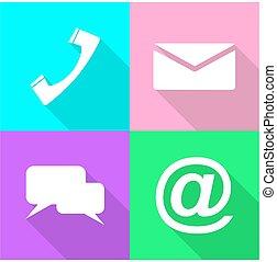 set communication icons