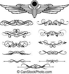 set, communie, calligraphic