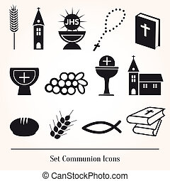 set, communie, illustratie