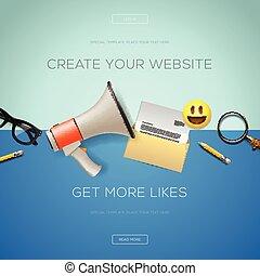 set, concetto, marketing, disegno, icone, internet