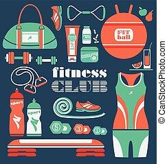 set., condicão física, ícones