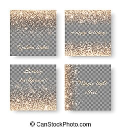Set confetti on a transparent background - Set with lighting...