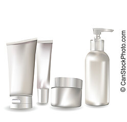 set, contenitore, cosmetico