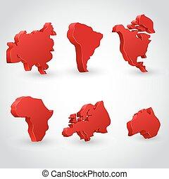 set., continente, rosso