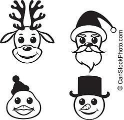 Christmas funny muzzles