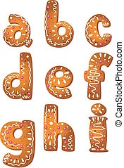 set cookie letters A to I