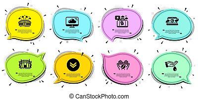 set., copywriting, コーヒー, 手荷物, アイコン, スポーツ, 旅行, 洗いなさい, signs., 活躍の舞台, ノート, ベクトル, 手, 競技場