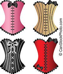 set, corsetto