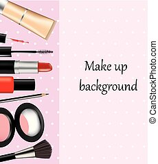 set, cosmetico, fondo