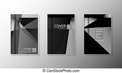 Set Cover design poster with geometric layered triangles