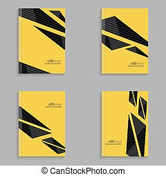 Set covers for magazine of black stripes.