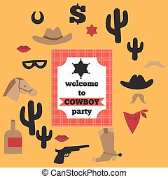 set, cowboy, printable, ouderwetse , communie, feestje