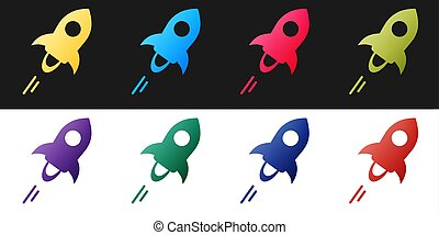 Set Cryptocurrency coin Stellar XLM icon isolated on black and white background. Digital currency. Altcoin symbol. Blockchain based secure crypto currency. Vector