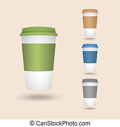 set, cups., plastic