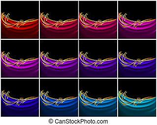 Set curtain, color silk tissue
